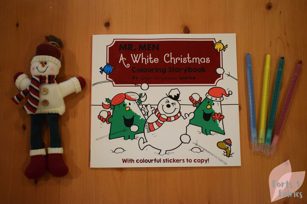 Mr. Men A White Christmas Colouring Story - Forts and Fairies
