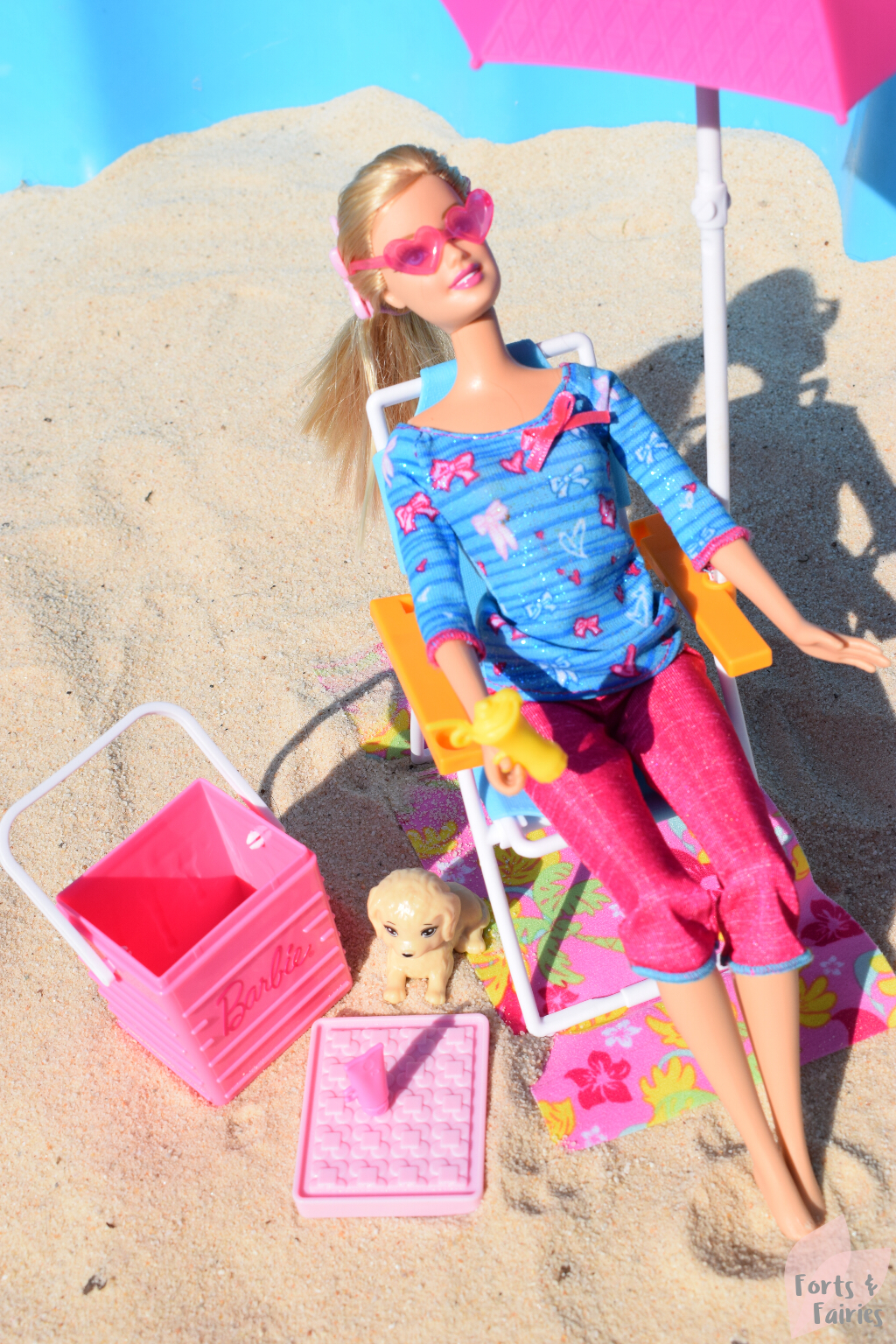 Barbie Estate Beach Picnic Outdoor Furniture Forts And